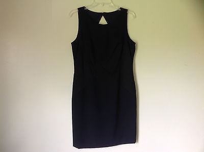 Black Diamond Criss Cross Sleeveless Open Back Dress by Datiani Size 12