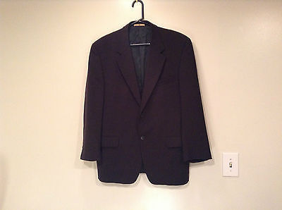 Black Joseph Abboud Size 41 Regular Lined Suit Jacket Blazer 100 Percent Wool