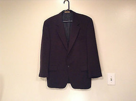 Black Joseph Abboud Size 41 Regular Lined Suit Jacket Blazer 100 Percent Wool image 1