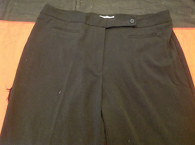 Dressbarn Long Black Ladies Casual Pants Size 16