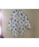 Cream NYC snow globes Inspired Fleece Button Up Night shirt Matching Sle... - $79.19