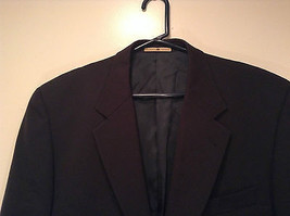 Black Joseph Abboud Size 41 Regular Lined Suit Jacket Blazer 100 Percent Wool image 2