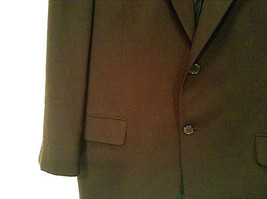 Black Joseph Abboud Size 41 Regular Lined Suit Jacket Blazer 100 Percent Wool image 3