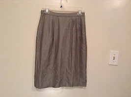 Gray 100 Percent Rayon Size 8 Fully Lined Skirt Side Pockets Glen Brooke