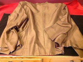 Adriana Papell set of woman brown blazer and white blouse with grey butterflies image 3