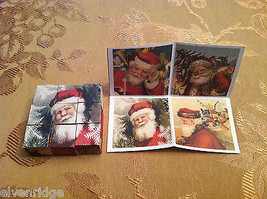 6 Sided Cube Vintage Church Puzzle - Santa Claus Christmas Themed image 5