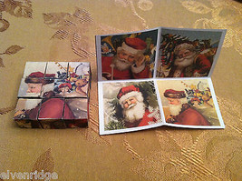 6 Sided Cube Vintage Church Puzzle - Santa Claus Christmas Themed image 6