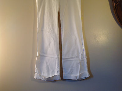 Byer California Size 9 White Casual Pants Roll Up Bottom Excellent Condition