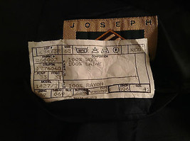 Black Joseph Abboud Size 41 Regular Lined Suit Jacket Blazer 100 Percent Wool image 8