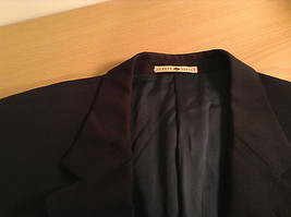 Black Joseph Abboud Size 41 Regular Lined Suit Jacket Blazer 100 Percent Wool image 6
