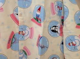Cream NYC snow globes Inspired Fleece Button Up Night shirt Matching Sleep Mask image 3