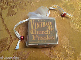 6 Seitig Würfel Vintage Kirche Puzzle - Weihnachtsmann Weihnachten Themen image 2