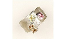 Big Rhodium Plated Colorful Crystal Cubic Zirconia Cocktail Ring - Perfe... - $80.89