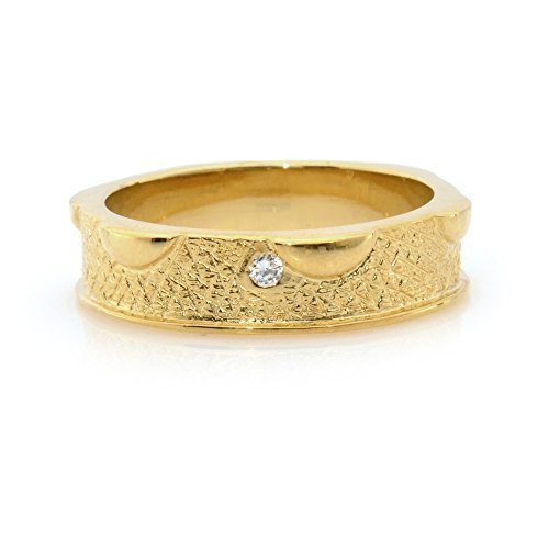 New Elegant Statement Gold Plated Band Fashion Ring White Crystal Cubic Zirconia
