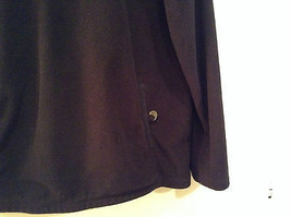 Black Knitted Lands End Sweater Coat Jacket Fleece Trim Collared Size L  image 5