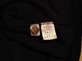 Black Knitted Lands End Sweater Coat Jacket Fleece Trim Collared Size L  image 11