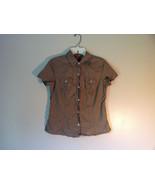 100 Percent Cotton Short Sleeve Brown Button Up Shirt Banana Republic Si... - $39.99
