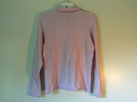 100% Merino Wool Long Sleeve L L Bean Pink Turtleneck Top Size Medium Regular - $34.64