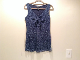 100 Percent Nylon New York and Company Size M Sleeveless Dark Blue Top - $39.99