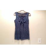 100 Percent Nylon New York and Company Size M Sleeveless Dark Blue Top - $39.99