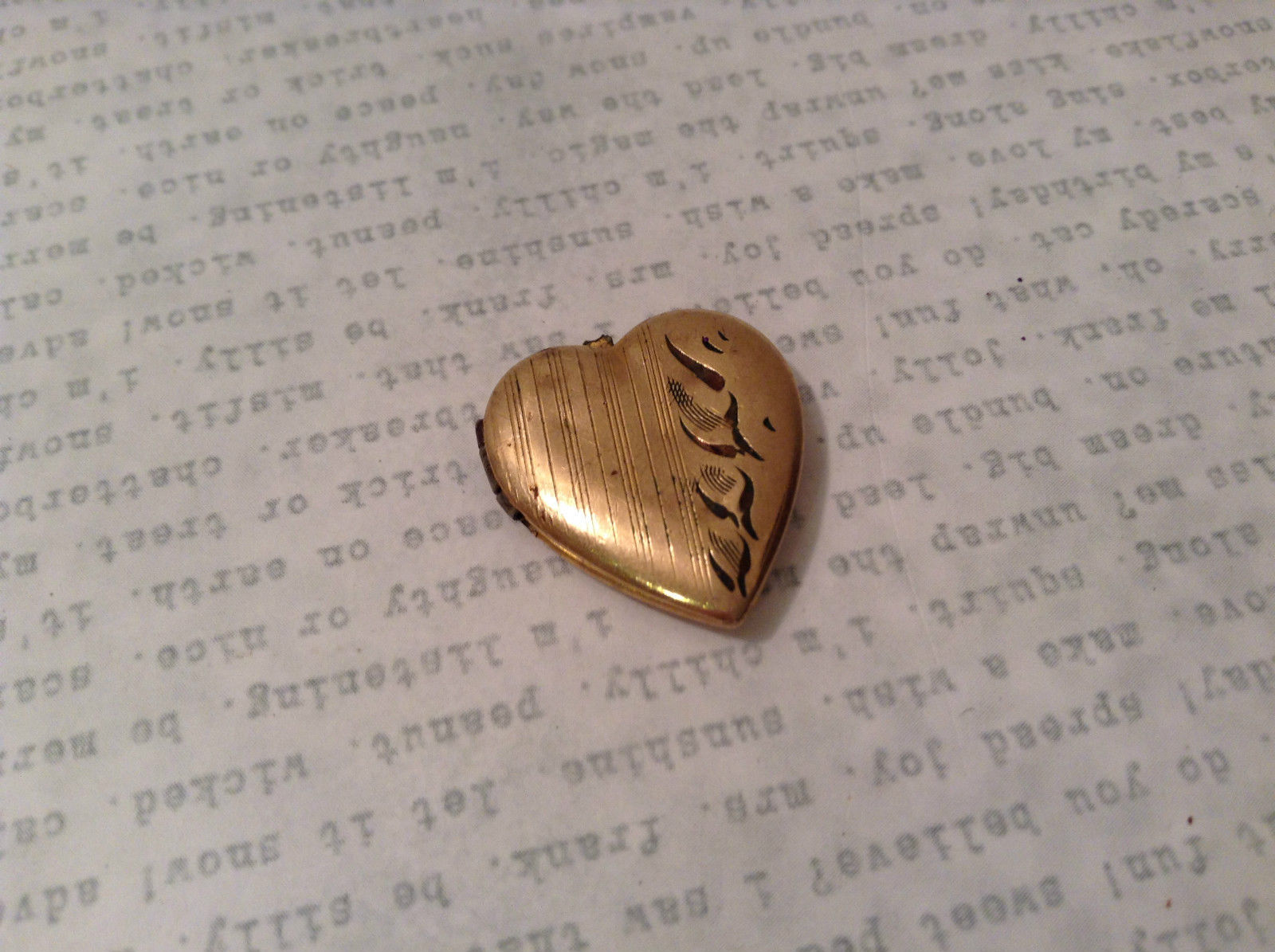 10K Gold Filled Heart Shaped Vintage Locket