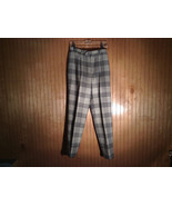 100 Percent Pure Wool Plaid Dress Pants by Cassandra Made in USA Size 12 - $39.59