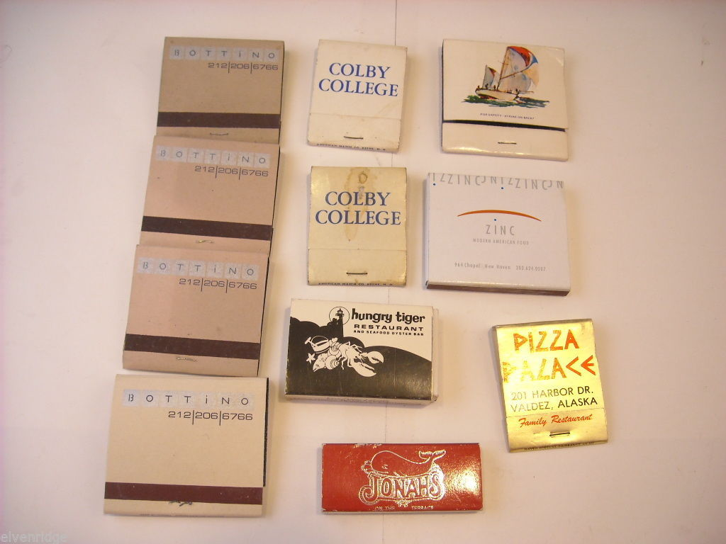 11 Matchbooks and boxes with a New England and Alaskan Theme