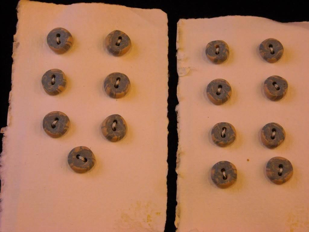 15 small Handmade Porcelain 2 hole buttons by Suzanna