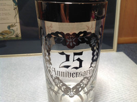 12 Piece Silver Overlay Tall Water Glass Cups with Coasters 25th Anniversary image 4