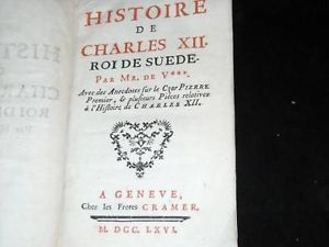 1766 Histoire de charles XII Roide Suede RARE book