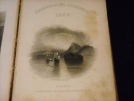 1850 Friendships Offering antique book Harriet Barnes