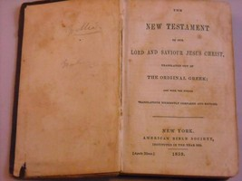 1859 Hardcover: New Testament of Our Lord Jesus Christ