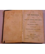 1859 Hardcover: New Testament of Our Lord Jesus Christ - $138.60