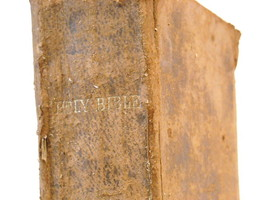 1857 Hardcover 100th Edition Holy Bible
