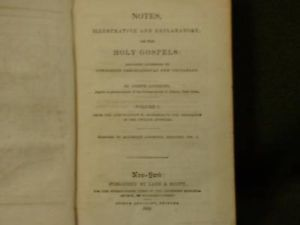 1852 Notes Illustrative and Explanatory Holy Gospels