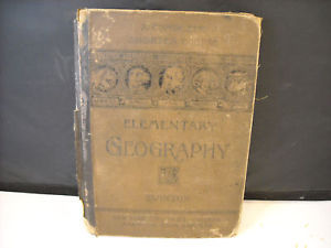 1875 Elementary School Geography Textbook illustrated