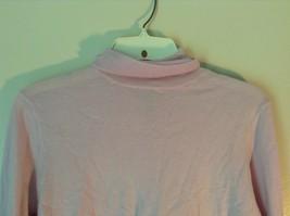 100% Merino Wool Long Sleeve L L Bean Pink Turtleneck Top Size Medium Regular image 2