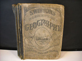 1875 Primary School Geography Textbook illustrated Swinton's