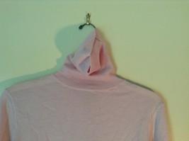 100% Merino Wool Long Sleeve L L Bean Pink Turtleneck Top Size Medium Regular image 3