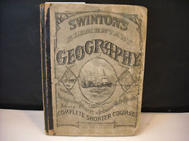 1875 Swinton Elementary Geography Textbook illustrated