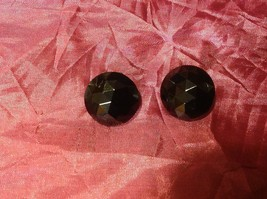 "1"" Round Black Vintage Clip On Earrings image 2"