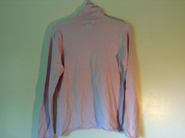 100% Merino Wool Long Sleeve L L Bean Pink Turtleneck Top Size Medium Regular image 4