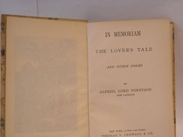 1892 In Memoriam and Poems Tennyson