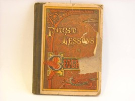 1884 Textbook First Lessons in Geography Monteith 1884