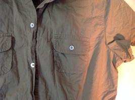 100 Percent Cotton Short Sleeve Brown Button Up Shirt Banana Republic Size S image 4