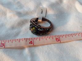 1.5 CT CZ Peridot Black hematite Size choice 5 through 10 hearts on side band image 8