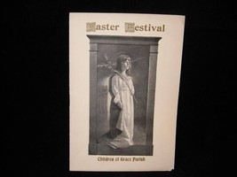 1903 Antique Easter Festival Program Readings Hymns