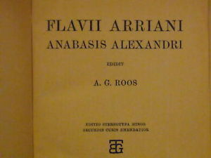 1910 Greek Textbook Flavii Arriani Anabasis Alexandri