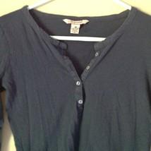 100 Percent Cotton Navy Blue Long Sleeve Aeropostale Shirt Size Medium image 2