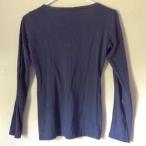 100 Percent Cotton Navy Blue Long Sleeve Aeropostale Shirt Size Medium image 4